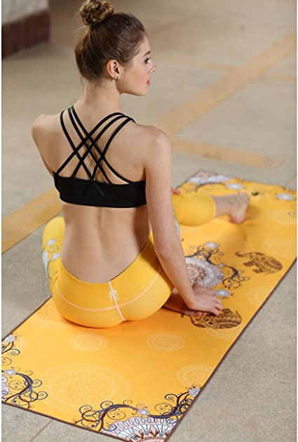 Serviette imprim/ée de DYZD flacon pulv/érisateur inclus antid/érapante et ultra absorbante 100//% microfibre les voyages et le camping id/éale pour le yoga la plage la piscine