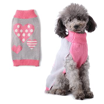 Amazon Pet Dog Sweater Clothes For Small Dogs Cat Puppy