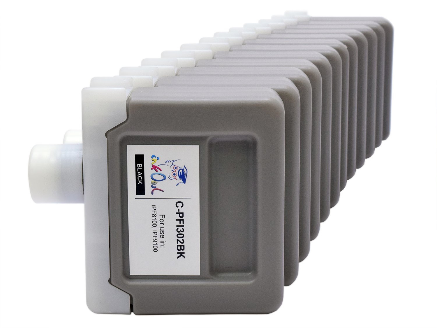 InkOwl - Compatible Ink Cartridge Replacement for CANON PFI-301/302 (330ml, 12-pack) for iPF8100, iPF9100 printers