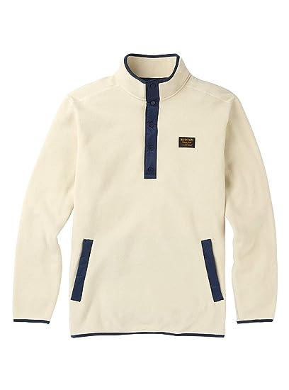 ceb0725c4a Burton Men's Hearth Fleece Pullover, BONE White, Large