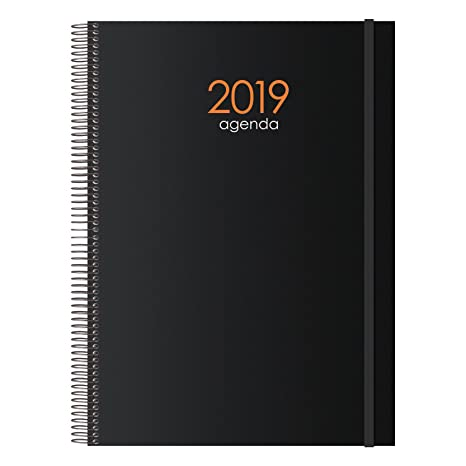 Amazon.com : Dohe - Agenda, Page per Day, 15 x 21 cm, Black ...
