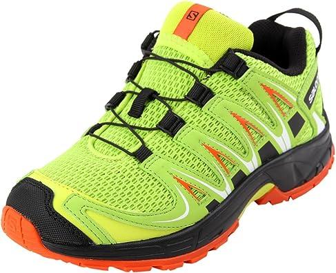 Salomon XA Pro 3D J, Zapatillas de Deporte Unisex Niños, Verde (Lime Punch/Black/Scarlet Ibis), 36 EU: Amazon.es: Zapatos y complementos