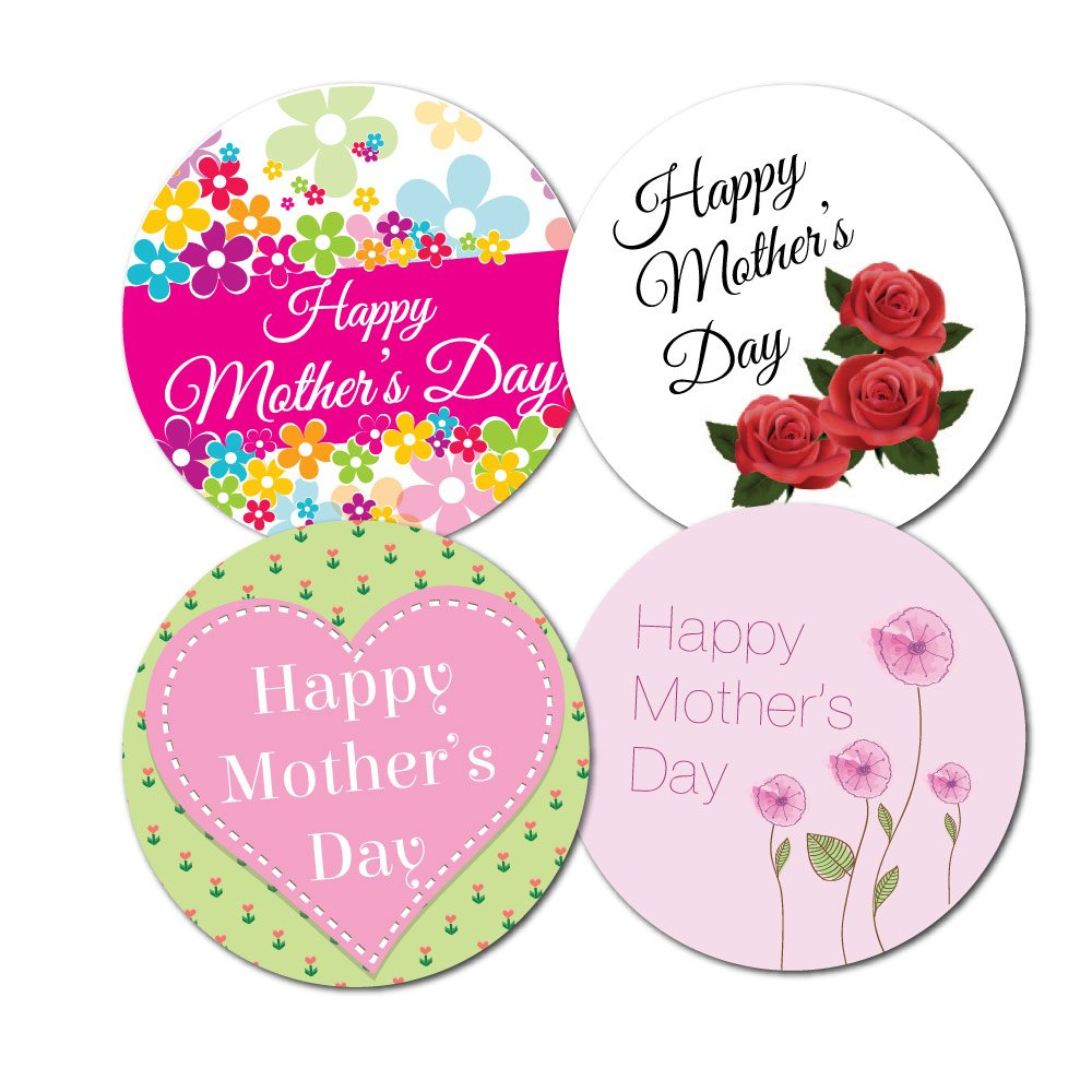 happy mother u0027s day stickers 4 designs per pack 30mm crafts