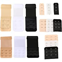 Closecret Women's Assorted Bra Back Strap Extenders With 1 to 3 Hook Optional