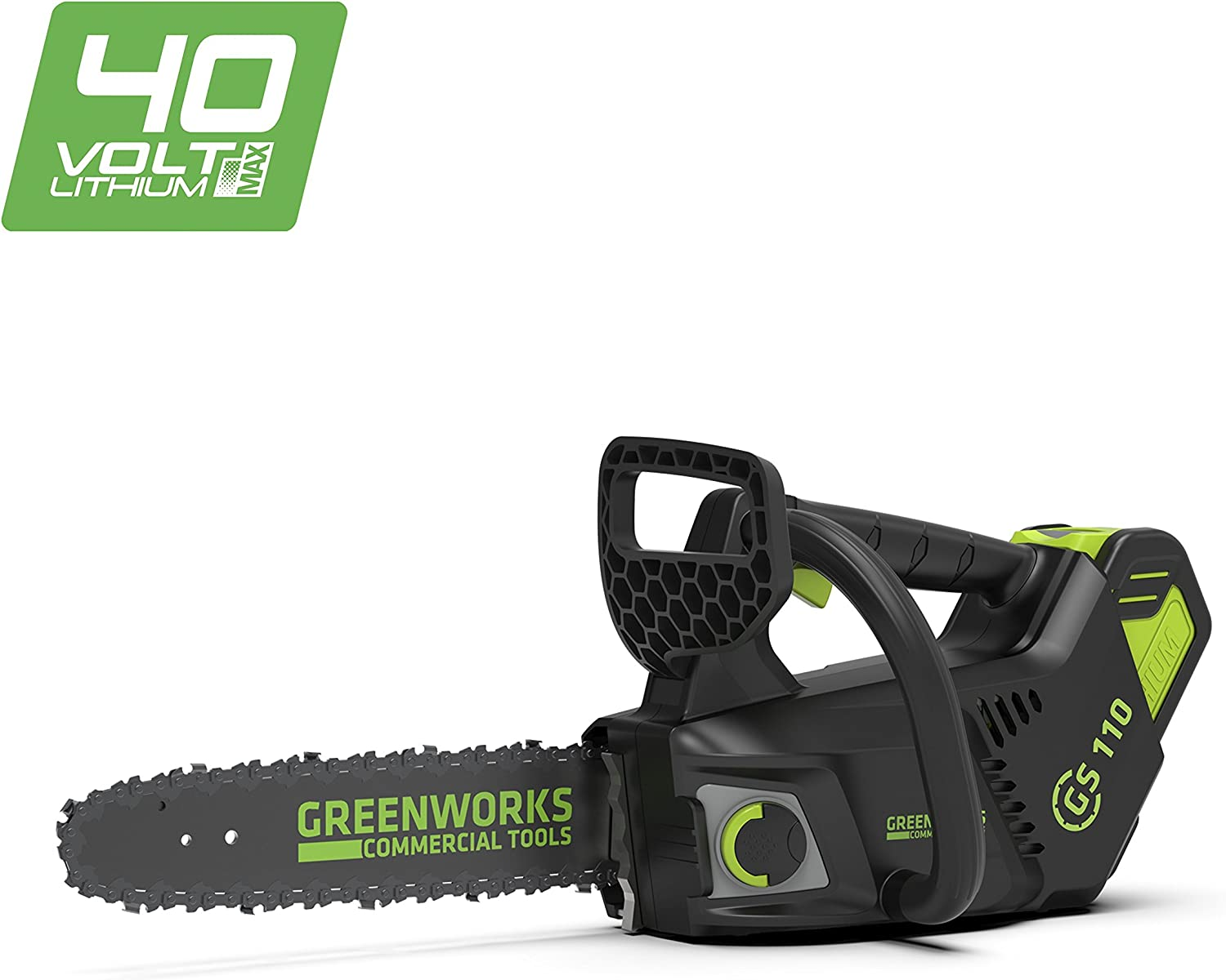 Greenworks Tools 382003807 Motosierra Inalámbrica, 40 V, Green