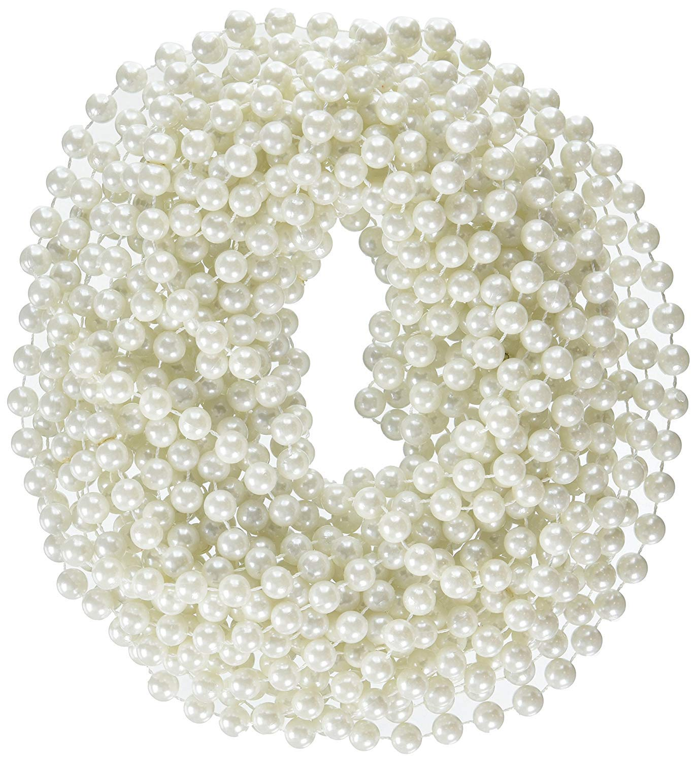 Rhode Island Novelty 48-Inch 12mm Faux Pearl Necklace | White | Pack of 12 by Rhode Island Novelty