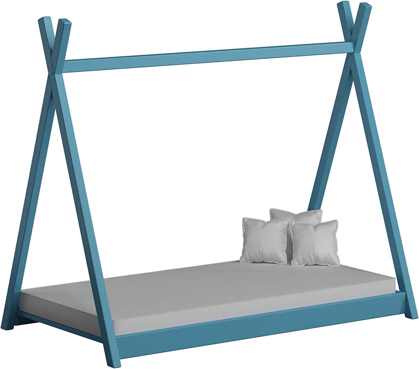 Natural, 70 x 140 cm ACMA Kids bed Children bed TIPI 100/% Pinewood Natural