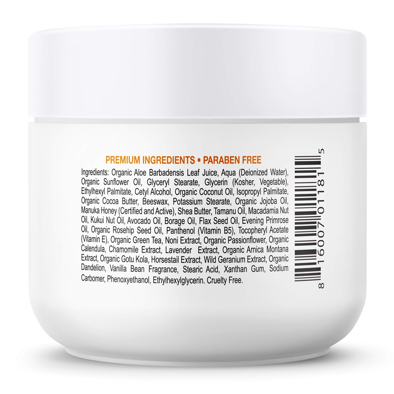 Day and Night Manuka Honey Cream for Face and Body Certified Active 16 Organic Aloe Vera Anti Aging Helps Relieve Dry Skin, Eczema, Rosacea, Shingles and Psoriasis. by Deluvia