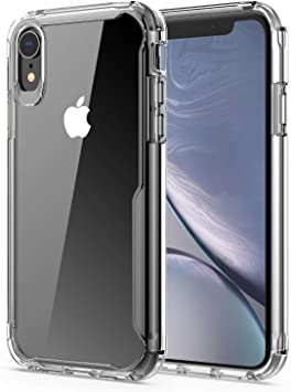 Amazon Com Effenx Clear Iphone Xr Case Thin Slim Shockproof Case Protective Cover Tpu Bumper Hard Pc Back Cover For Iphone Xr 6 1 Crystal Clear