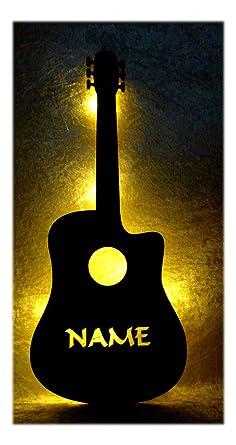 Schlummerlicht24 Deko Lampe E Gitarre Mit Name Musik Geschenk Fur