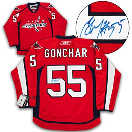 b2bd23a5a Image Unavailable. Image not available for. Color  Sergei Gonchar Washington  Capitals Autographed Reebok Premier Hockey Jersey