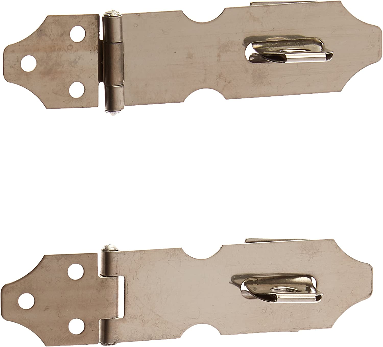 Cupboard Cabinet Door Stainless Steel Hasp Staple Latch Lock Safety Buckle Hinge