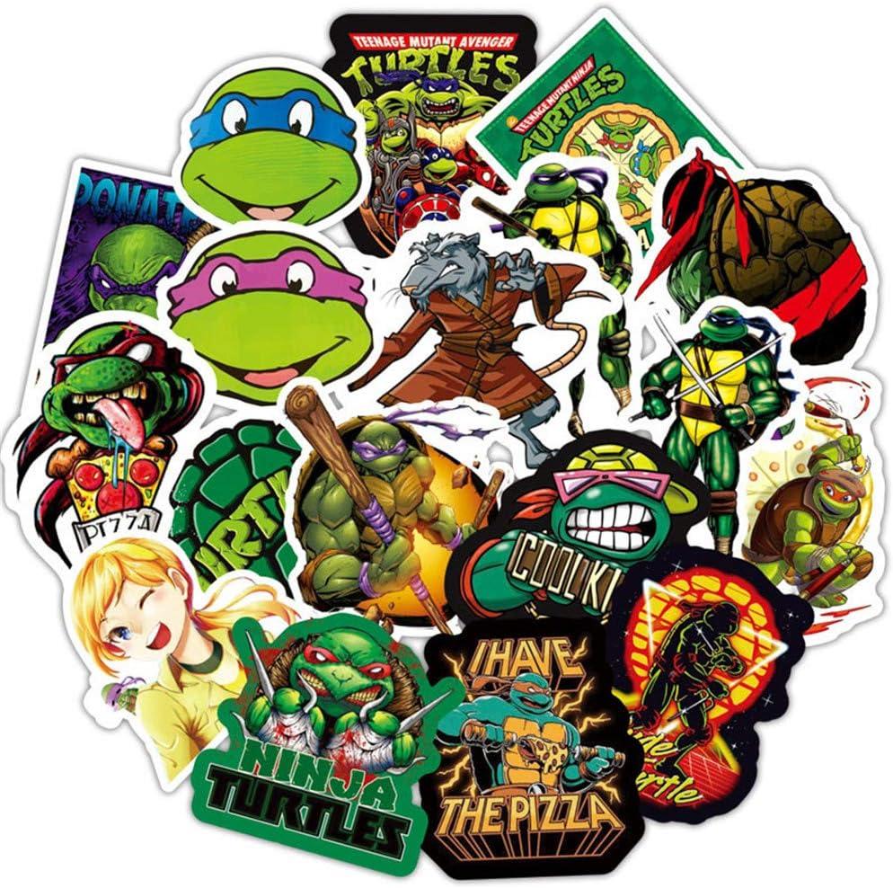 Teenage Mutant Ninja Turtles Cartoon Vinyl Sticker Decal for Kids,Graffiti Waterproof Decals for Hydro flasks Water Bottles Party Supplies Luggage Skateboard Bumper… (TMNT)