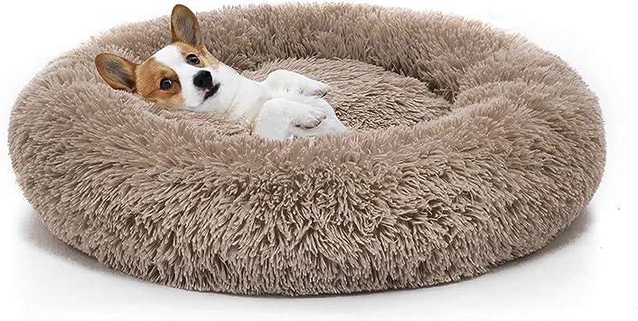 perros peque/ños Urijk suave resistente al agua suave forro polar para cachorros dise/ño Oxford Cama para perro y gato medianos y grandes con base antideslizante lavable