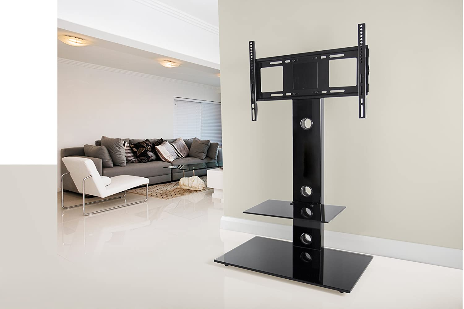 AVF FSL700LEB-A Lesina TV Floor Stand with Mount for TVs 32-55-Inch