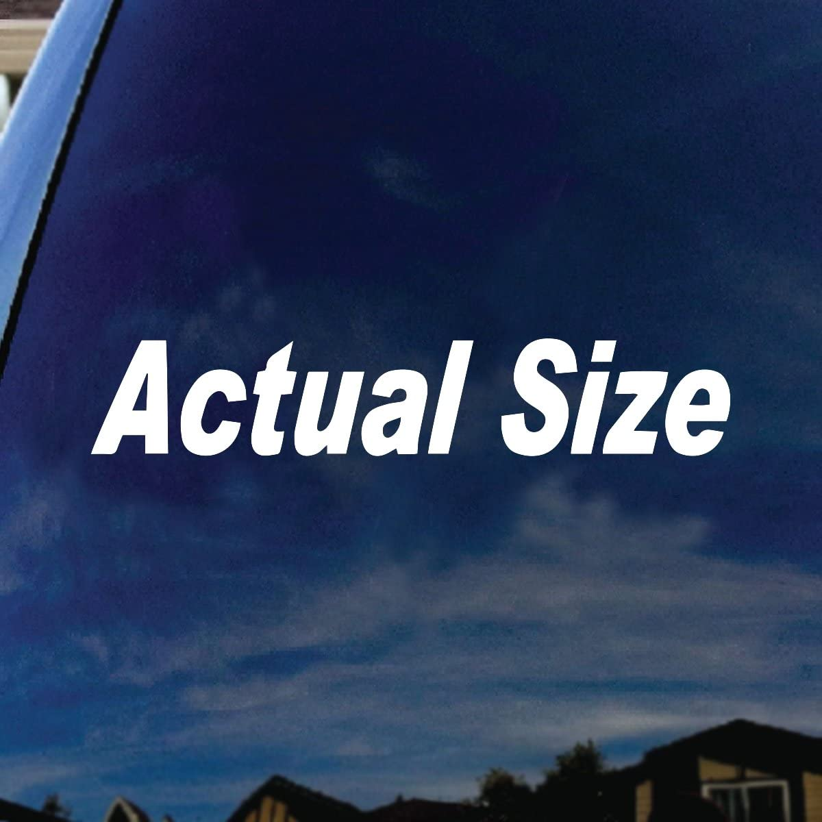 "SoCoolDesign Actual Size Mini Car Truck Laptop Sticker Decal 5"" Wide (White)"