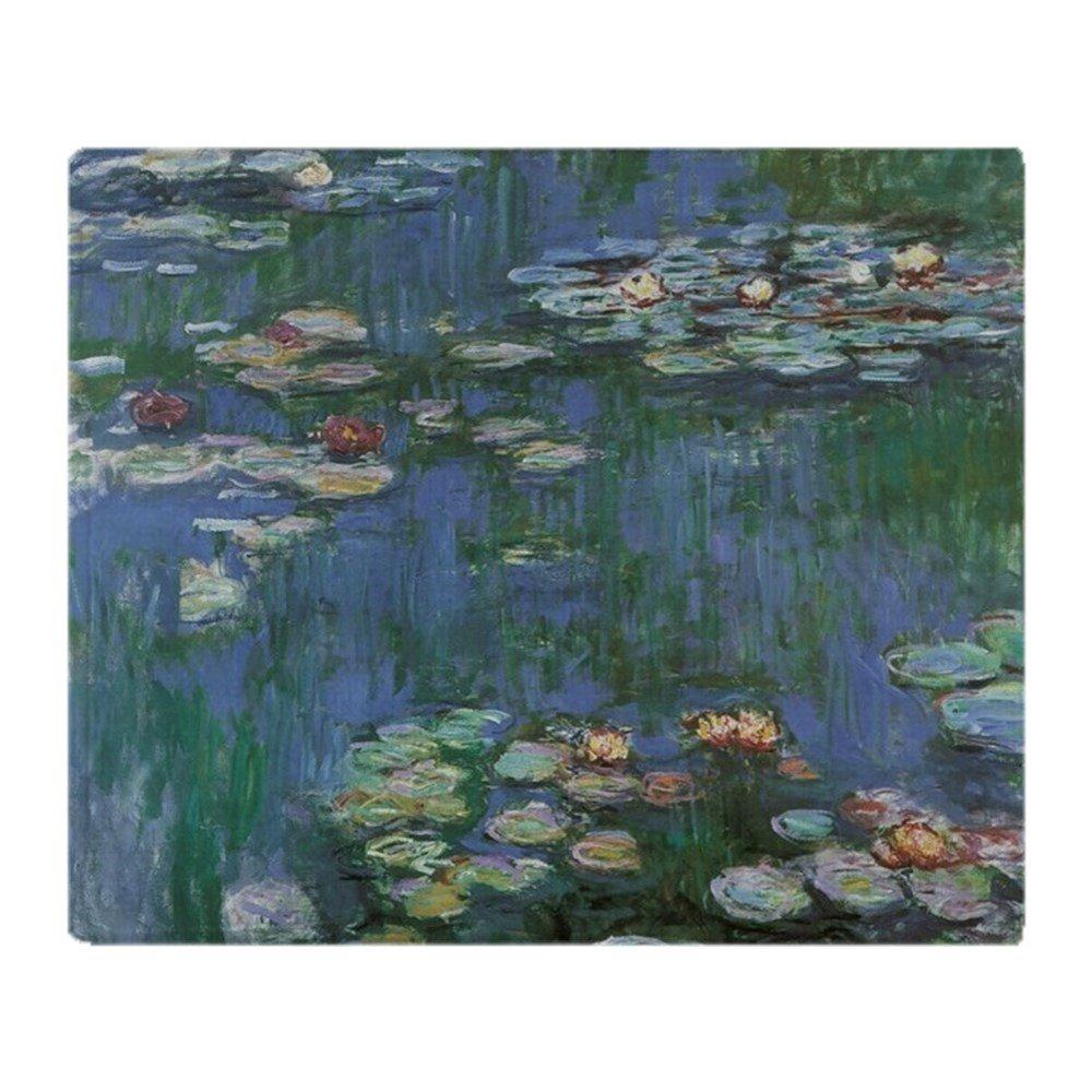 CafePress – Waterlilies by Claude Monet – ソフトフリーススローブランケットブランケット、50