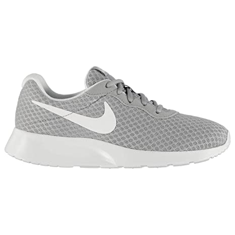 a6b10b76535 Nike Tanjun Training Shoes Womens Grey White Gym Fitness Trainers Sneakers  (UK3) (