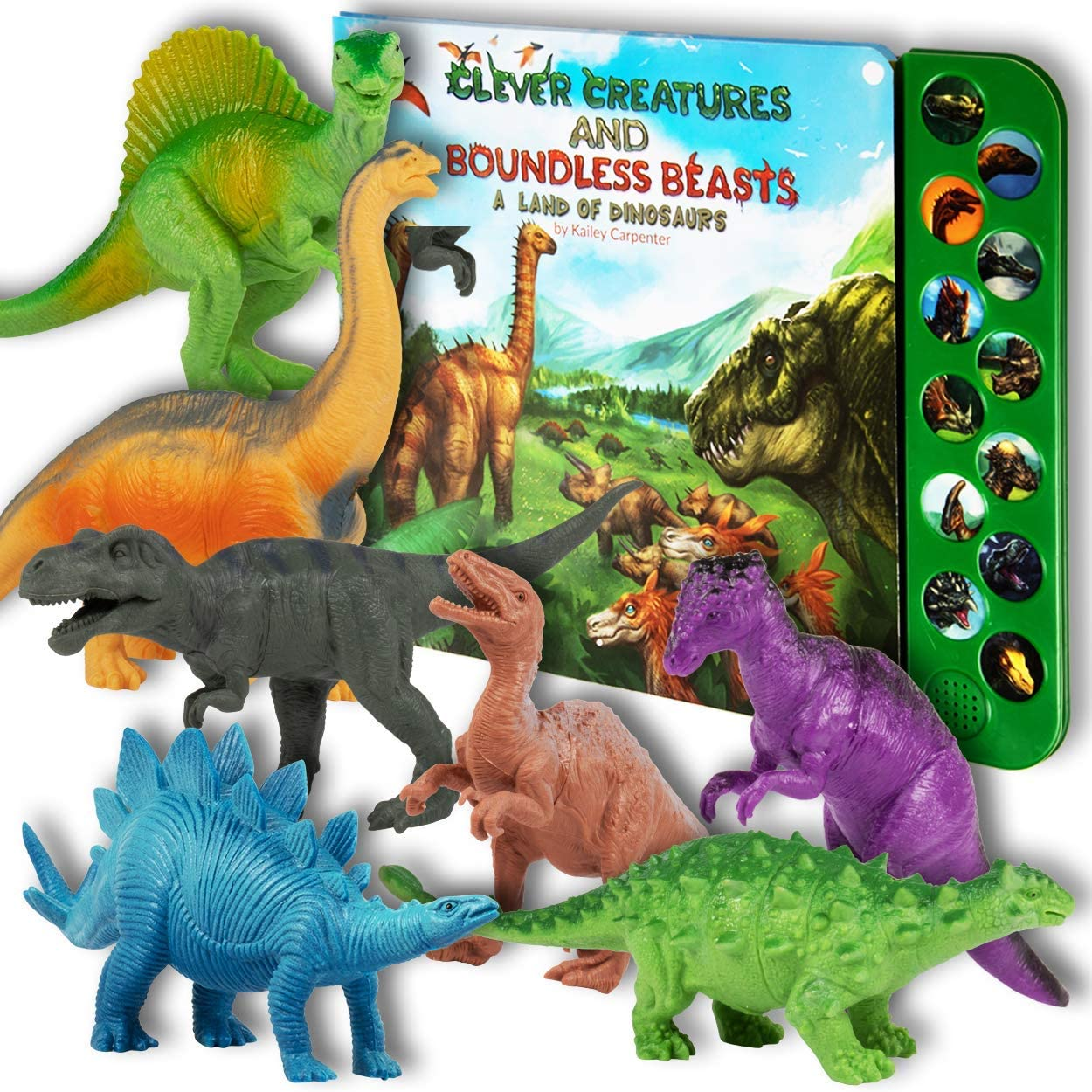 Dinosaur Figures with Dinosaur Sound Book