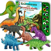 """Li'l-Gen Dinosaur Toys for Boys and Girls 3 Years Old & Up - Realistic Looking 7"""" Dinosaurs, Pack of 12 Animal Dinosaur…"""