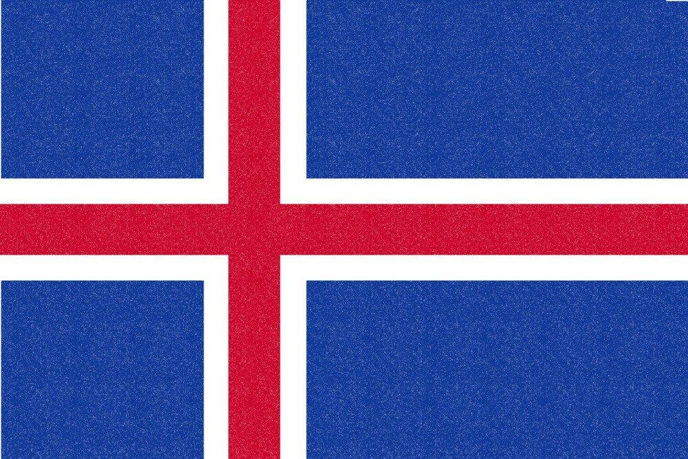 アイスランド国フラグ – 活版 36 x 54 Giclee Print LANT-66502-36x54 B01M3TEIFL  36 x 54 Giclee Print