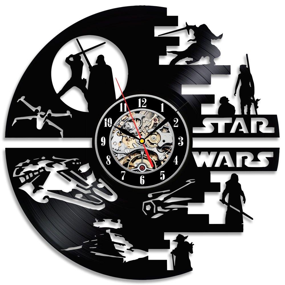 Decorative Star Wars Handmade Vinyl Wall Clock Gullei.com