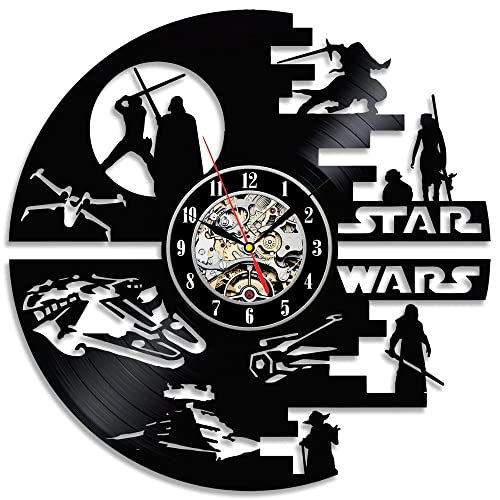 Star Wars Epic Movies Decor Vinyl Wall Clock-Unique Home Decor That Will Suit to Any Interior – Handmade Gift for Birthday Anniversary or Any Other Occasion Gift for Him Gift for Her