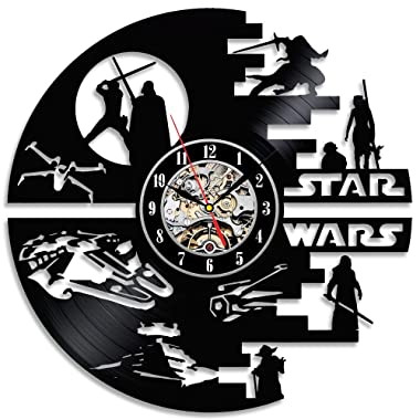 Decorative Star Wars Handmade Vinyl Wall Clock