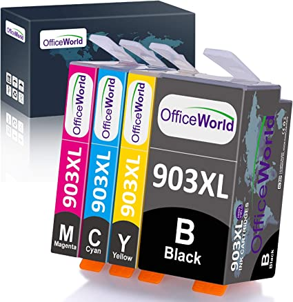 Officeworld Ersatz Für Hp 903 903xl Druckerpatronen Hohe Kapazität Kompatibel Mit Hp Officejet Pro 6950 6970 6960 1 Schwarz 1 Cyan 1 Magenta 1 Gelb Bürobedarf Schreibwaren