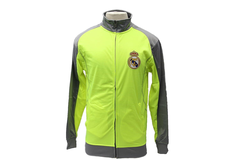 公式Real Madrid Soccerトラックジャケットネオンイエロー – Rhinox B01CUVP948 Medium