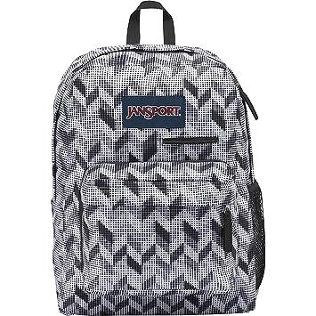 JanSport Digibreak Laptop Backpack (Black Motif Chevron)