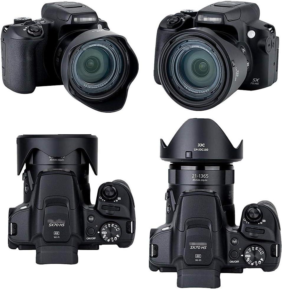 Microfiber Clean Cloth Yisau Dedicated Petal Replace LH-DC90 Bayonet Lens Hood for Canon PowerShot SX70 HS and SX60 HS Camera