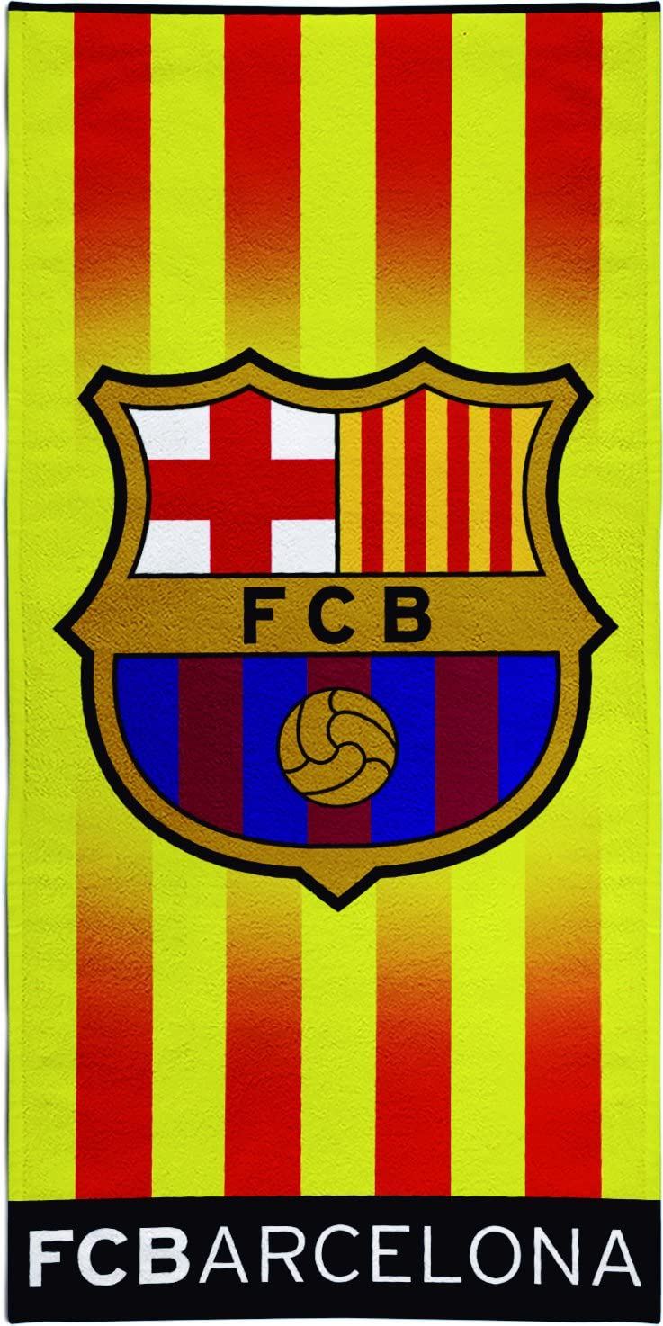 Cotone Textil Tarrag/ó FCB Senyera Telo da spiaggia 33 x 45 x 3 cm Multicolore