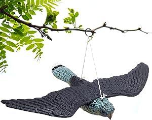 Garden Simulation Bird Decoration Realistic Lifelike Flying Hawk Fake Bird Hunting Decoy Scarer