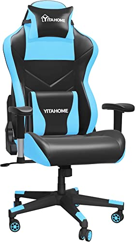 YITAHOME Massage Gaming Chair Big and Tall 350lbs Heavy Duty Ergonomic Video Game Chair High Back Office Computer Chair Racing Style