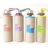 My Bottle Kılıflı Çelik Kapaklı Cam Matara - Su Şişesi 470 Ml