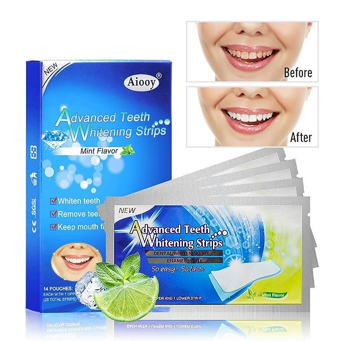 3 opinioni per Aiooy 28pcs Sbiancamento Dei Denti Strisce Sbiancante Denti Qualità