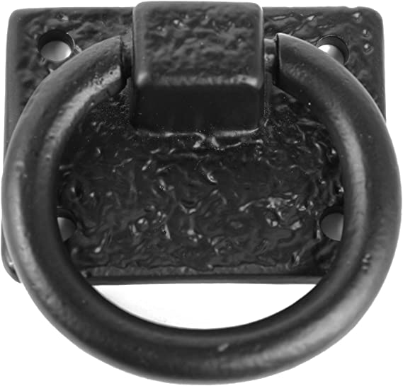 Door /& Gate Handle Solid Cast Iron Iron Valley 4.5/'/' Ring Pull