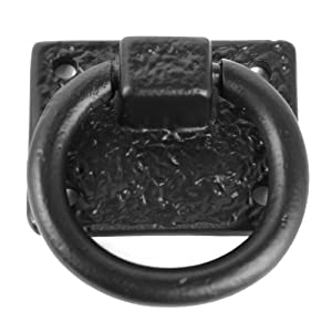 """Iron Valley - 2"""" Cabinet Ring Pull - Solid Cast Iron"""