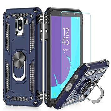 LeYi Funda Samsung Galaxy J6 2018 Armor Carcasa con 360 Anillo iman Soporte Hard PC y Silicona TPU Bumper antigolpes Fundas Carcasas Case para Movi ...