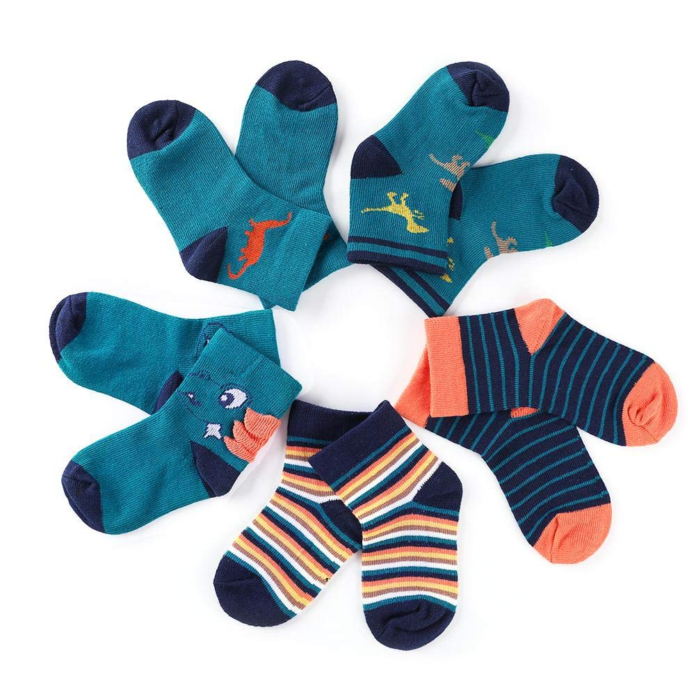 swanluck 5pairs//Lot Cute Cartoon Baby Boys Girls Soft Cotton Socks Kids Stripe Socks