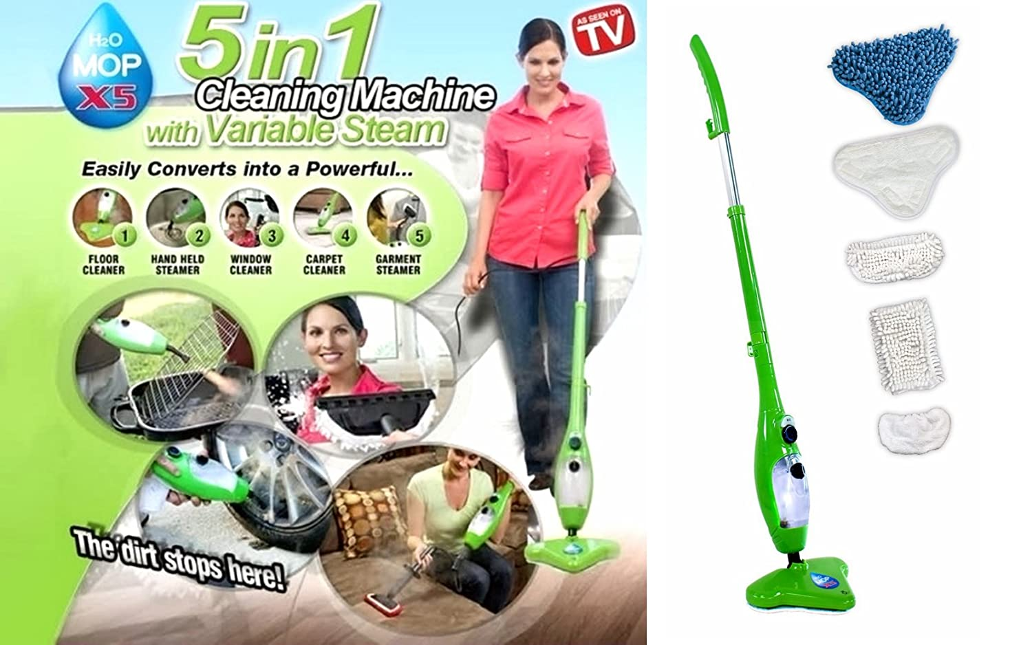 Upright and Handheld Steam Mop SKG KB-2012 - 6-in-1 Multi Function, 1500 Watt
