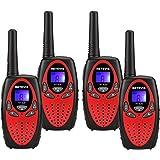 Retevis RT628 Talkies Walkies Enfants PMR 446 UHF 8 Canaux LCD Écran LCD Vox (2 Paire Rouge)