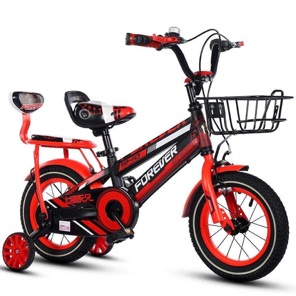 子供用自転車、ボーイの自転車、快適な後部座席付きの6-10歳の男の子に適した18インチ (Color : Red)   B07CSTXFSY