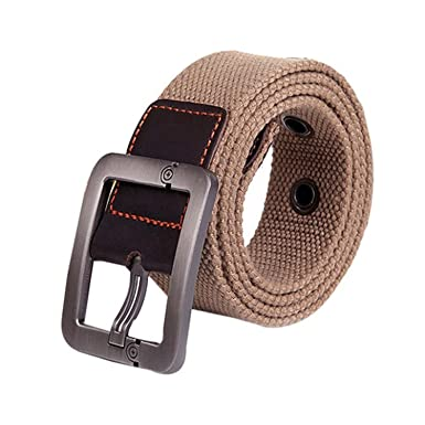 KEBINAI Fashion NEW New Design Especially Man Women Automatic Square Buckle  Waist Strap Sports Knit Canvas 3982919096c