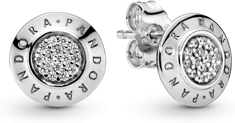 Pandora Pendientes de botón Mujer plata - 290559CZ