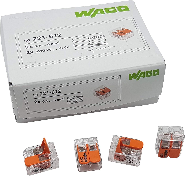 WAGO Klemme 221-613 3 Leiter  6qmm transparent 30 STK