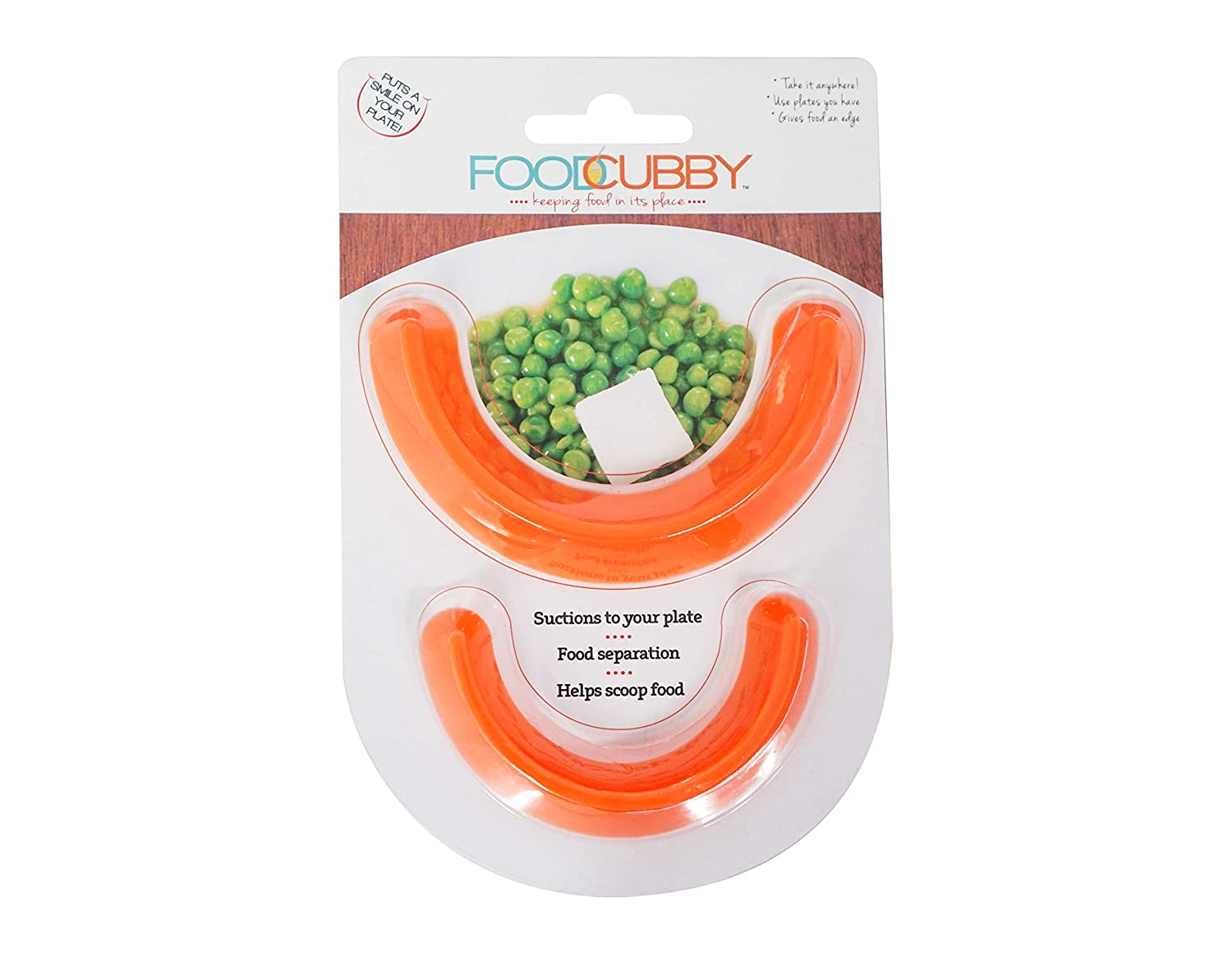 Food Cubby Plate Divider - Food Separator - Food Safe Silicone (2, Clear) by Food Cubby   B01FGS9ZIS