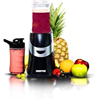 Geepas 350W Personal Blender Smoothie Milkshake Maker - Mini Electric Travel Blender for Protein Shakes with 2 Easy to…