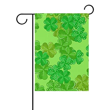 Top Carpenter Patrick's Green Shamrocks Double-Sided Printed Garden House  Sports Flag - 12x18in - 100% Premium Polyester Decorative Flags for